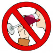 Prohibition of drinking - Stock Photo