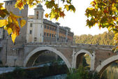 City of Rome - Tiber Island - Italy — Stock Photo
