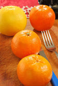 Oranges and grapefruits — Stock Photo