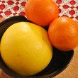Stock Photo: Grapefruit and clementine 003