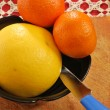 Stock Photo: Grapefruit and clementine 002