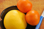Grapefruit and clementine 005 — Stock Photo
