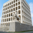 Rome EUR (Palace of Civilization 080) - Rome - Italy - Stock Photo