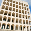 Rome EUR (Palace of Civilization 015) - Rome - Italy - Stock Photo