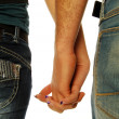 Stock Photo: Young couple holding hands 005