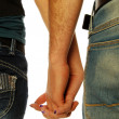 Stock Photo: Young couple holding hands 006