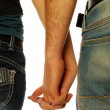 Young couple holding hands 006 — Stock Photo