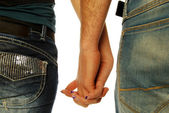 Young couple holding hands 005 — Stock Photo