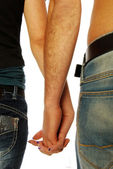 Young couple holding hands 003 — Stock Photo