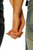 Young couple holding hands 001 — Stock Photo