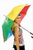 Girl with umbrella 013 — Stock Photo