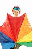 Girl with umbrella 010 — Stock Photo