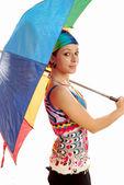 Girl with umbrella 009 — Stock Photo
