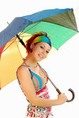 Girl with umbrella 007 — Stock Photo