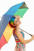 Girl with umbrella 008 — Stock Photo