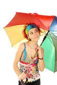 Girl with umbrella 006 — Stock Photo