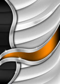Orange and Metal Business Background — Stock Photo