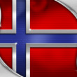 Norway Metal Flag — Foto Stock