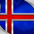 Iceland Metal Flag — Foto Stock