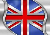 UK Metal Flag — Stock Photo
