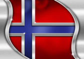 Norway Metal Flag — Stock Photo