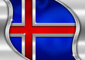 Iceland Metal Flag — Stock Photo