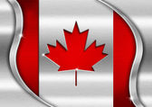 Canada Metal Flag — Stock Photo