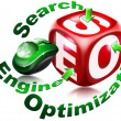 Cube SEO - Search engine optimization — Zdjęcie stockowe #8136881