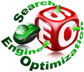 Cube SEO - Search engine optimization — Stock Photo