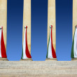Italian Flags - Stok fotoraf