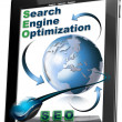 Tablet SEO - Search engine optimization — Stok Fotoğraf #8325543