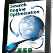 Tablet SEO - Search engine optimization — Zdjęcie stockowe #8325543