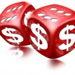 Dice Dollar Game - Stockfoto