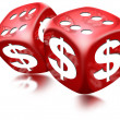Dice Dollar Game - Stock Photo