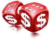Dice Dollar Game — Stock Photo