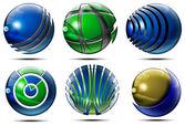 бизнес сфера логотип — Стоковое фото