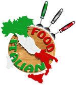 Italiaans eten — Stockfoto