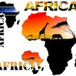 Set AfricMap Illustration — Foto Stock #8711910