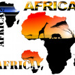 Set AfricMap Illustration — Stockfoto #8711910