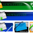 Newsletter Web Banner Collection — Stock Photo