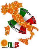 Orange made in Italy — Stock Photo