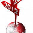 2012-2013 Red Sign — Stock Photo
