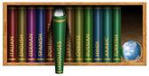 Language Text Books — Stock Photo