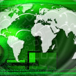 Green Global Business Background — Stock Photo