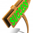 Wooden Success Sign - Foto Stock