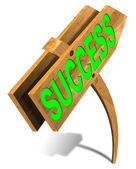 Wooden Success Sign — Stock Photo