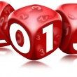 Dice 2013 Happy New Year - Stockfoto