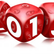 图库照片: Dice 2013 Happy New Year
