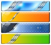 Vier horizontale headers — Stockfoto