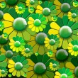 Green Flowers Background — Foto de Stock